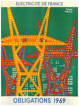 Electricite de France Obligations 1969 (Emprunt) 21x31