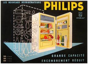 Philips Fridge Horizontal (Black)