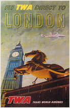 TWA - Fly TWA Direct to London