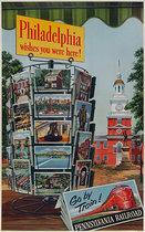 Pennsylvania Railroad Philadelphia Wishes You Were Here!
