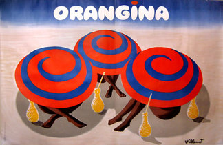 Orangina Beach Umbrellaa