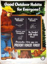 Good Outdoor Habits Smokey the Bear