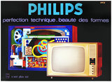 Philips Televisions Perfection Technicque. Beaute des Formes (TV Tubes)