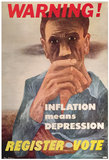 Warning! <br> Inflation Means Depression <br> Register Vote