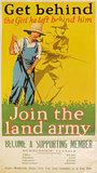 Join the Land Army Get Behind the Girl