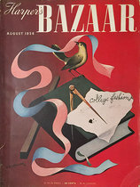Harper's Bazaar Cover (ribbon/ college fashions)