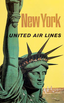 United Airlines New York Statue of Liberty