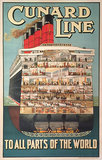 Cunard Line to  All Parts of the World (cutaway)