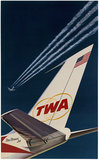 TWA Star Stream Jet Tail