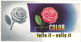 Mini Subway Car Card <br>No. 05 - Color Tells It - Sells It