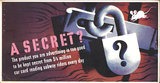 Mini Subway Car Card <br>No. 09 - A Secret