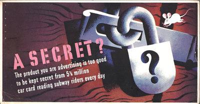 Mini Subway Car Card <br>No. 09 - A Secret
