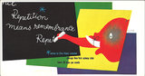 Mini Subway Car Card <br>No. 14 - Repitition Means Remembrance