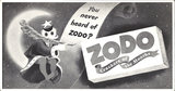 Mini Subway Car Card <br>No. 18 - Zodo