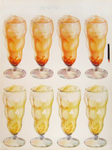 8 ice cream floats - American Die Cut