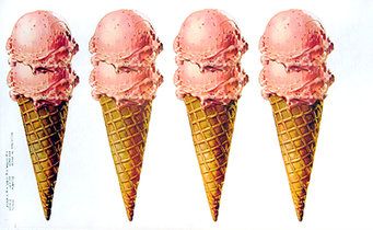 Strawberry Ice Cream Cones - American Die Cut