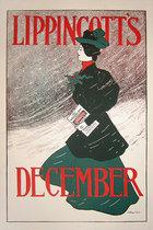 Lippincott's December (Woman in Green)