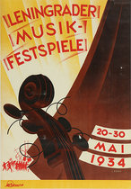 Leningrader Musik Festspiele 1934