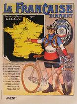 La Francaise Diamant Pneus Dunlop Selle Brown