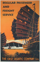 The East Asiatic Company Regular Passenger and Freight Service (Orange)