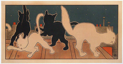 Cats Playing Panel Print (No Text)
