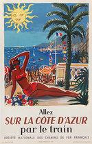 SNCF Allez Sur La Cote D'Azur (French Text/ Bikini)