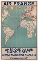 Air France Amerique Du Sud Maroc Algerie Map