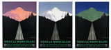 Vers Le Mont Blanc Tryptic Set