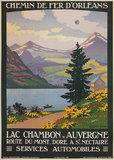 Lac Chambon Auvergne (Chemin De Fer D'Orleans)
