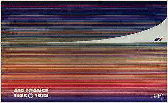 Air France Fifty Anniversary 1933 to 1983 Concorde