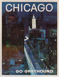 Go Greyhound Chicago (11in x 14in)