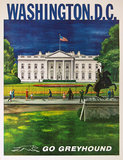 Go Greyhound Washington DC Whitehouse (11in x14in)