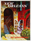Go Greyhound New Orleans (11in x 14in)