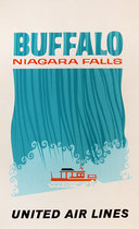 United Airlines Buffalo Niagra Falls (Silkscreen)