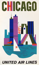 United Airlines Chicago (Silkscreen)