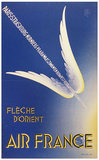 Air France Fleche D'Orient Wings 1/4 Sheet