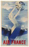 Air France Dans Tous Les Ciels (Masthead) 1/4 Sheet