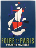 Foire de Paris 1959 (Abstract Ship)