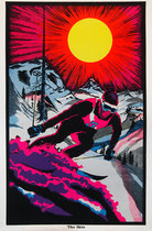 The Skier (Velvet 1960's Blacklight Poster)