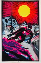The Skier (Velvet 1960's Blacklight Poster)