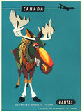 Qantas Canada Moose (Australia's Overseas Airline) 1/4 Sheet