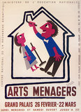 Arts Menagers (Couple in House/ Purple & White) 47x63