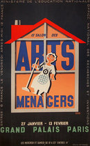 Arts Menagers (Black with Orange House 25x40)