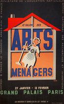 Arts Menagers (Black with Orange House 25x40)