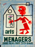 Arts Menagers (Pale Blue) 47x63