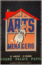 Arts Menagers (Black with Orange House/ 47x63)