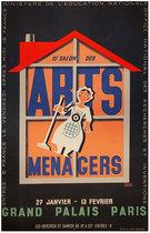Arts Menagers (Black with Orange House/ 47x63)