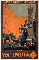 Visit India Ellora-Indian State Railways