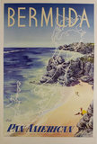 Pan Am Bermuda (Beach and Map Outline)