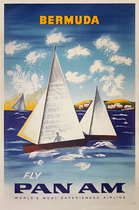 Bermuda -Fly Pan Am  (Sailboats)
